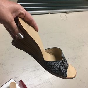 Authentic coach wedge shoe
